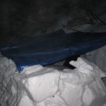 We regularly practice building snow shelters and bivvys in case of emergency.
