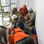 Working at Sterling Rope to help keep rescue rigging sharp.