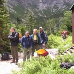 WRT members at Chimney Pond in the summer.