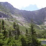 The view from Chimney Pond in the summer.