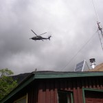 A mid-summer slip resulted in a helicopter rescue.